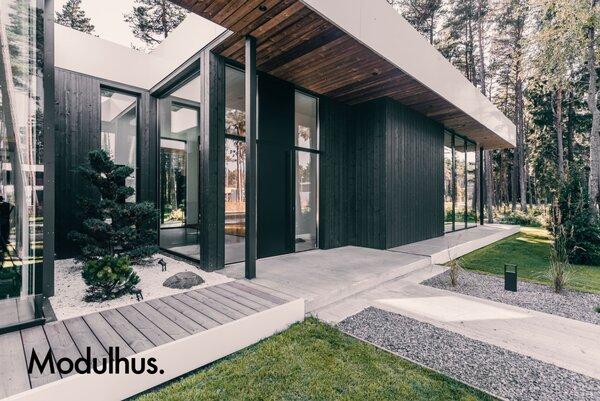 Utsida CLT-villa från Modulhus.se